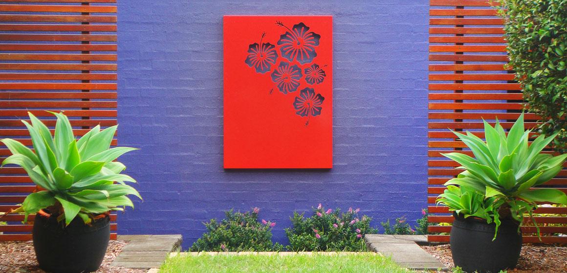 Hibiscus - Painted Aluminium