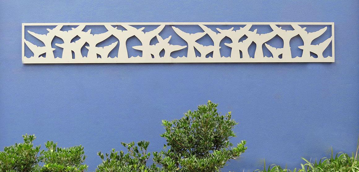 Whale tails – Painted aluminium