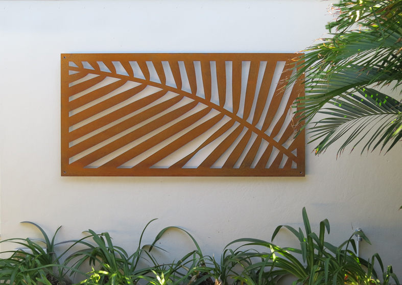 Palm frond – weathering steel